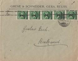 DR Brief Mef Minr.5x 310 Gera 24.10.23 Gel. Nach Stralsund Geprüft - Deutschland