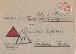 DR NN-Brief EF Minr.381 Braunschweig 13.8.31 - Deutschland