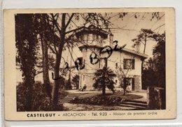 CPA - 33 - ARCACHON - PUBLICITE - Maison Familiale De Premier Ordre - Direction Famille Leblanc - Voir Verso - Arcachon
