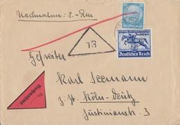 DR NN-Brief Mif Minr.521,746 Isenburg - Briefe U. Dokumente