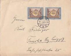 DR Brief Mef Minr.2x 828 Danzig 11.1.43 Gel. Nach Taucha - Deutschland