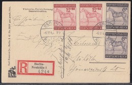 DR Orts-R-AK Mif Minr.2x 857,2x 858 Berlin 6.11.43 - Deutschland