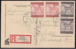 DR Orts-R-AK Mif Minr.2x 857,2x 858 Berlin 6.11.43 - Germany