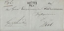 Preussen Brief L2 Rhüden 26.2. Gel. Nach Werl - Preussen