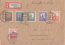 SBZ Orts-R-Brief Mif Minr.150-155 Chemnitz 28.2.46 - Sowjetische Zone (SBZ)