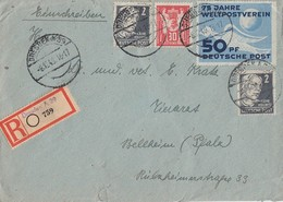 DDR R-Brief Mif Minr.242,243 SBZ Minr.2x 212 Dresden 8.12.49 - Briefe U. Dokumente
