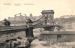 Budapest - Lanczhid - Kettenbrücke (top Animation) - Hongrie