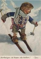 Künstlerkarte AK Mecki Vorbeugen Ist Besser Als Heilen Ski Igel Comic Figur Comicfigur Diehl Hörzu Igelkarte Serie 365 - Mecki
