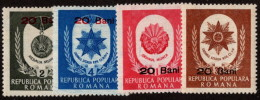 ROM SC #849-52 MNH 1952 Labor Medals W/surcharge SCV $20.00 - 1948-.... Republics