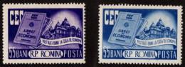 ROM SC #1078-79 MNH 1955 Systematic Bank Saving SCV $11.00 - 1948-.... Republics