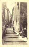 D 83 - BRIGNOLES - La Rue Saint-Esprit - Belle Animation - Voyagée 1935 - La Cigogne - Brignoles