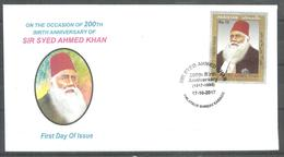 PAKISTAN FDC  200TH BIRTH ANNIVERSARY SIR SYED AHMED KHAN   MNH - Pakistan