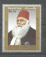 PAKISTAN 200TH BIRTH ANNIVERSARY SIR SYED AHMED KHAN   MNH - Pakistan
