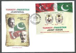 PAKISTAN 2017  FDC  DIPLOMATIC RELATION PAKISTAN AND TURKEY JOINT ISSUE - Pakistan