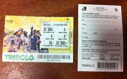BD DERIB 1 BILLET TICKET DE TRIBOLO DE LA LOTERIE SUISSE DE 2011 EN BON ÉTAT - Billets De Loterie