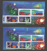 2002 Corals Joint Issue With Canada 2 Souvenir Sheets In Presentation Folder - Neufs
