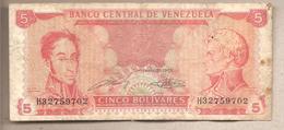 Venezuela - Banconota Circolata Da 5 Bolivares P-70a - 1989 - Venezuela