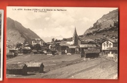 DA06-08  Val D'Hérens, Evolène Et Le Glacier De Zanfleuron Au Fond De La Vallée. Burgy 4776 - VS Valais