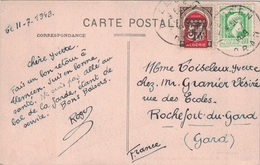ALGERIE - MARIANNE D'ALGER - 80c VERT + BALSON - TLEMCEN ORAN - 11-7-1949. - Algeria (1924-1962)