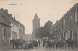 Schoorisse  Dorpplaats Super Super Animée Attelage Cycliste Etc.....circulé En 1920 - Belgique