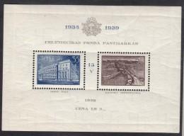 Latvia Lettland 1939 Mi#Block 2 Mint Never Hinged - Lettonie