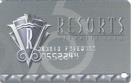 Resorts Casino - Atlantic City NJ - Slot Card - Embossed Name - Casino Cards