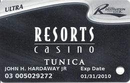 Resorts Casino - Atlantic City NJ - Slot Card - 5 Lines Text In Reverse Paragraph - Casino Cards