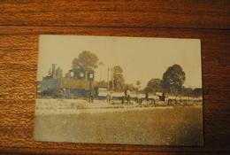 CPP CARTE PHOTO  LOCOMOTIVE TRAIN PO 21    LIGNE LE BLANC A ARGENT - Le Blanc