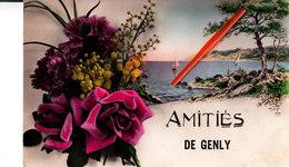 Amitiés De GENLY - Carte Colorée Et Glacée - Quévy