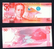 PHILIPPINES  -  2017  50 Pesos  UNC Banknote - Philippines
