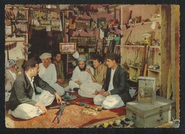 Pakistan Old Picture Postcard Tribal Gun Shop Near Peshawar View Card - Pakistan