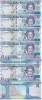 Cayman Islands - 5 Pcs X 1 Dollar 2010 Serie D/4 UNC Ukr-OP - Kaimaninseln