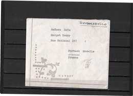 CTN52Z-COLOMBIE LETTRE AVION BARRANQUILLA / FORBACH 16/9/1947 - Colombie