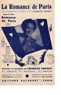 40 60 CHARLES TRENET FILM LA ROMANCE DE PARIS PARTITION PATHÉ CINÉMA INITIALE JEAN BOYER 1941 - Music & Instruments