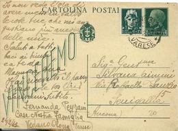 Cartolina Postale Vinceremo -intero Postale Cent 15+15 - 1900-44 Vittorio Emanuele III