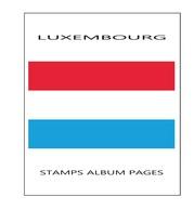 Suplemento Filkasol LUXEMBURGO 2013 - Montado Con Filoestuches HAWID Transparentes - Álbumes & Encuadernaciones
