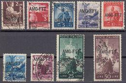 TRIESTE  Zona A AMG-FTT - 1949/1950 - Lotto 9 Valori Usati, Come Da Immagine. - 7. Triest