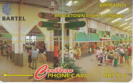 BARBADOS ISL.(GPT) -  Bridge Cruise Terminal, CN : 16CBDC(Ll, Normal 0), Tirage %38900, Used - Barbades