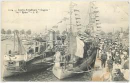 Contre Torpilleur Cognee Et Epieu - Postee De La Rochelle En 1915 - Guerre
