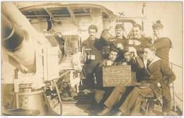 Carte Photo A Bord Du Torpilleur Bambara A Constantinople (Turquie) En 1922 - Francois Le Bellec - Rare Et Belle Carte - Guerre