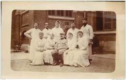 Lot De 5 Cartes Photos D'un Hopital De Campagne Non Situe - Medecin Folhoen Et Infirmieres (Region Picardie) - War 1914-18