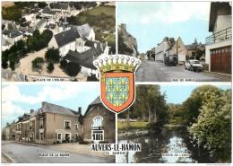 72 - AUVERS LE HAMON - Multivues Avec Blason 1975 - Altri Comuni