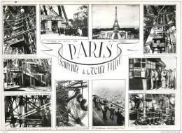75007 - PARIS - Souvenie De La Tour Eiffel - Multivues Avec Vignette + Historique - Tour Eiffel