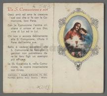 ES5113 SS. Sacramento COMUNIONE APRIBILE VERSI S. TOMMASO Santino - Religion & Esotericism