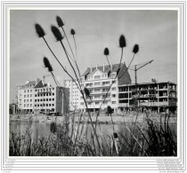 Photo De Presse - Caen - Nouveaux Batiments Construits Sur Les Ruines De Guerre - 1954 - Lieux