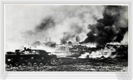 Press Photo - Russia - German Panzers Advance Against A Blazing - Tank - WW2 - War, Military