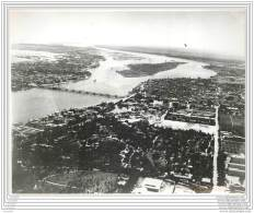 Press Photo - EGYPT - Cairo And The River Nile - Air View 1940 - Lieux
