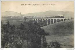 69 - LENTILLY - Viaduc De Buvet 1922 (avec Un Train Qui Passe...) - Other Municipalities