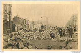 75 - PARIS - Guerre 1870 - Barricade Rue D'Allemagne Et Sebastopol 18 Mars 1871 - France