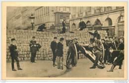 75 - PARIS - Guerre 1870 - Barricade  Rue De La Paix - Canon - Frankrijk